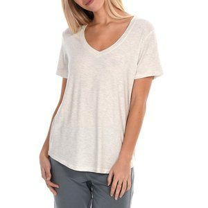 Paper Label Evelyn V-Neck Tee Cream Small